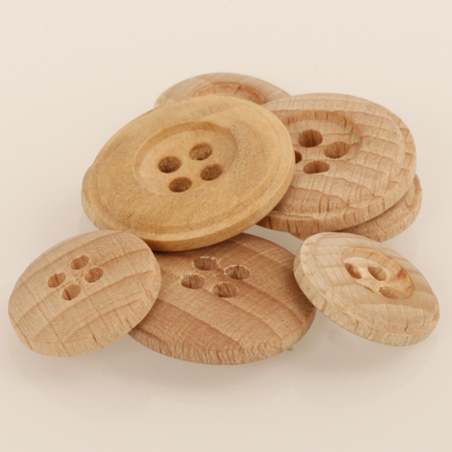 DROPS 502 Holzknopf hell 25mm