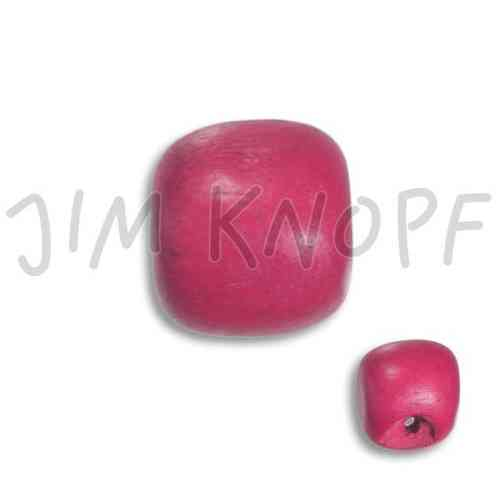 Holzknopf Perle pink
