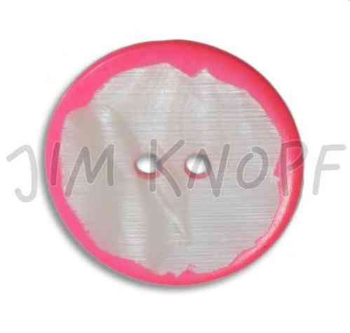 Jim Knopf bouton en agoya rose fluo grand
