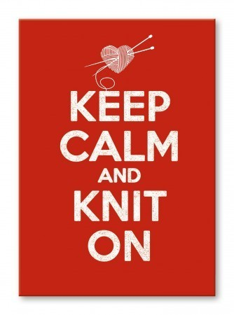 Postkarte: Keep calm and knit on