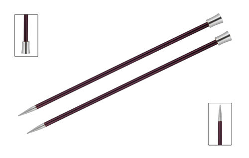 Paarnadel KnitPro Zing 6,00mm (35cm) purple velvet