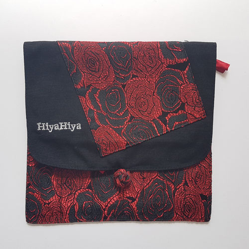 HiyaHiya Interchangeable Needle Case - roses rouge/noir