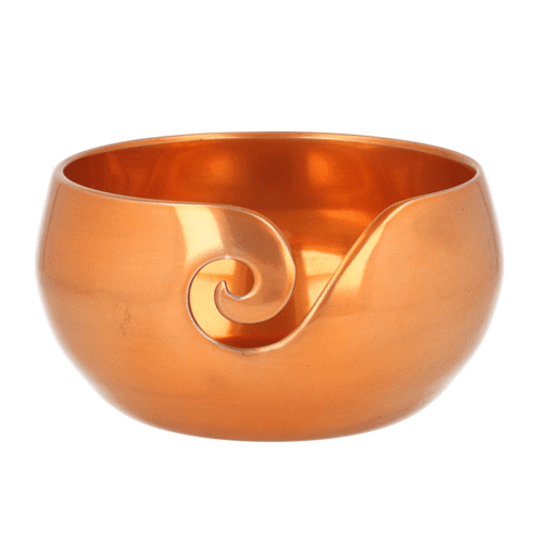 Metal Yarn Bowl copper