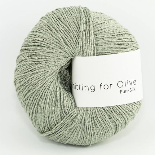 KNITTING FOR OLIVE Pure Silk Dusty Artichoke